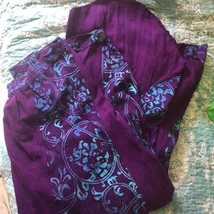 Boho hand batik skirt XL 12-14